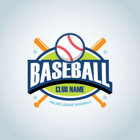 Baseball sport badge design template and some elements for  badge, banner, emblem, label, insignia, T-shirt screen and printing. Baseball template.
