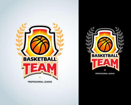 Basketball templates, basketball  badges design template, sport template. Basketball Themed T shirt template. Vector illustration. Ilustrace