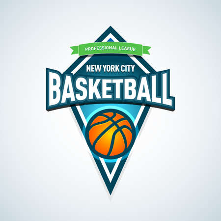 Basketball template, sport template. Basketball Themed T shirt template. Vector illustration.