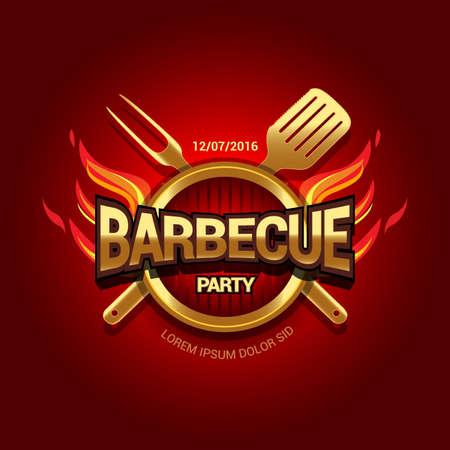 BBQ party template menu design. Barbecue Food flyer. Barbecue advertisement. Reklamní fotografie - 126185599