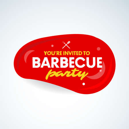 Barbecue party design template, Barbecue invitation. Isolated Vector illustration. Reklamní fotografie - 126185718