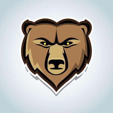 Bear head mascot. Vector illustration Reklamní fotografie - 126185724