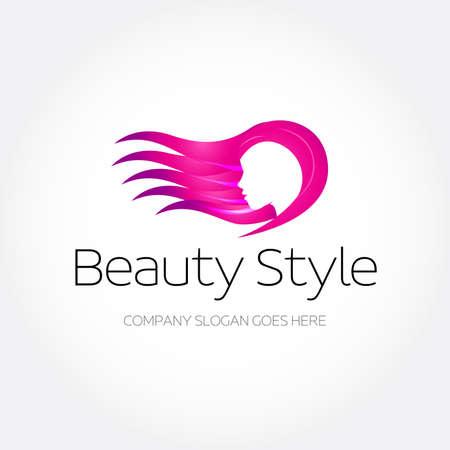Beauty Fashion Spa Logo design template. Haircut salon make up logotype concept icon. Abstract design concept for beauty salon, massage, cosmetic and spa.