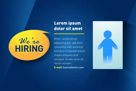 We are hiring  Employment recruitment job opportunity concept design. Isolated vector illustration.