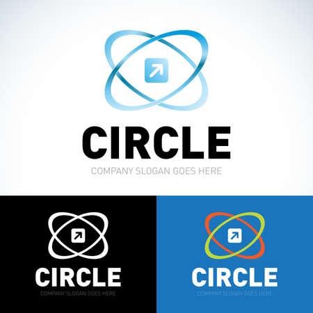 Technology orbit web rings logos. Ilustrace