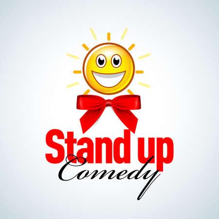 Stand up comedy badge, emblem.