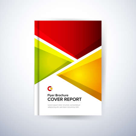 Colorful Design for Annual Report Cover, Flyer, Poster. Isolated vector illustration.