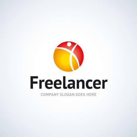 Freelance template (freelancer, businessman).