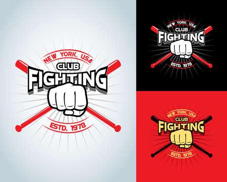 Fighting t-shirt design boxing monochrome