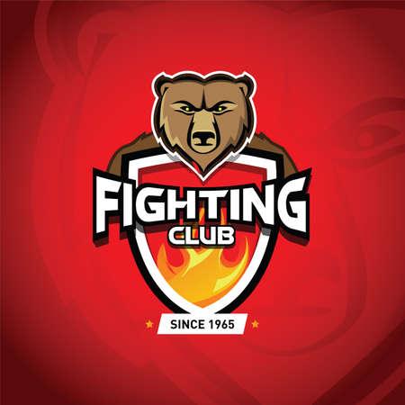 Fight club martial arts fighting template. Reklamní fotografie - 127484072