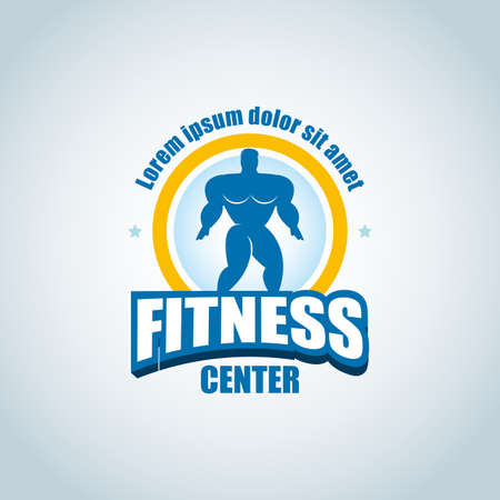 Fitness icon template. Gym club icon. Ilustrace