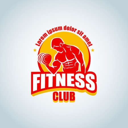 Fitness icon template. Ilustrace