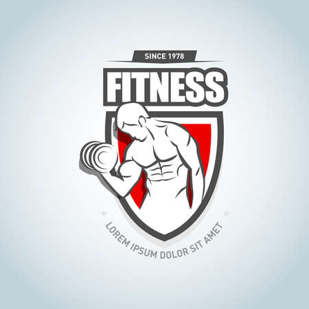Fitness icon template. 矢量图像