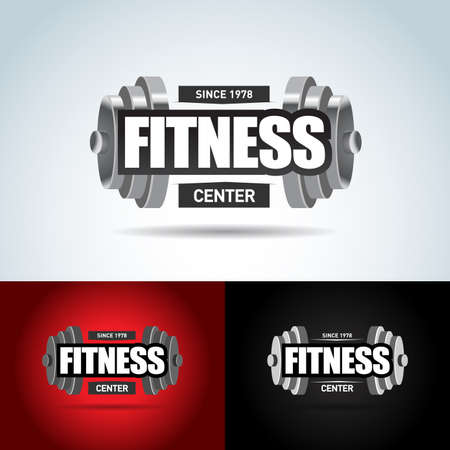 Sport Fitness club creative concept. Bodybuilder Fitness Illustration, Gym club logotype, Sign, Symbol, badge.fitness vector logo design template, design for gym and fitness vector. Ilustrace