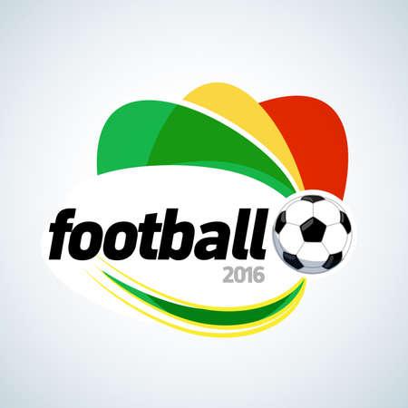 Soccer 2016 apparel t-shirt design. Football banner graphic design template. Isolated vector illustration. Illustration
