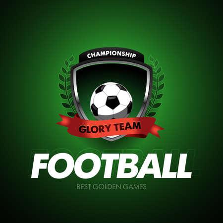 football logo template, badge, t-shirt, label, emblem. Vector illustration.