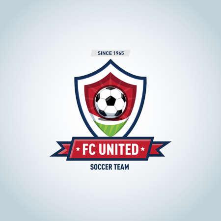 Soccer football badge Logo design template, sport logotype template. Soccer Themed T shirt. Football logo. Vector illustration. Illustration