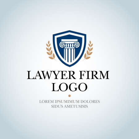 Law Firm, Law Office, Lawyer services, Isolated Vector logo template