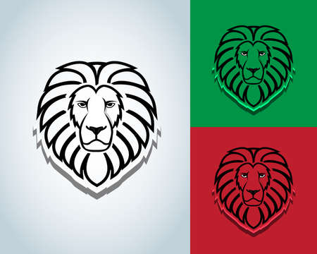 Lion head mascot design - vector sign concept illustration. Lion head logo. Wild lion head graphic illustration. Design element. Black and white version. T-shirt vector design.