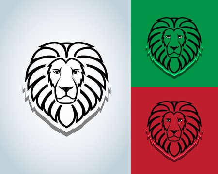 Lion head mascot design - vector sign concept illustration. Lion head logo. Wild lion head graphic illustration. Design element. Black and white version. T-shirt vector design.