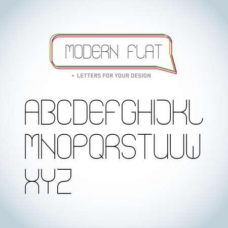 Modern Elegant light font, vector alphabet letters design. Isolated vector illustrations. Illustration