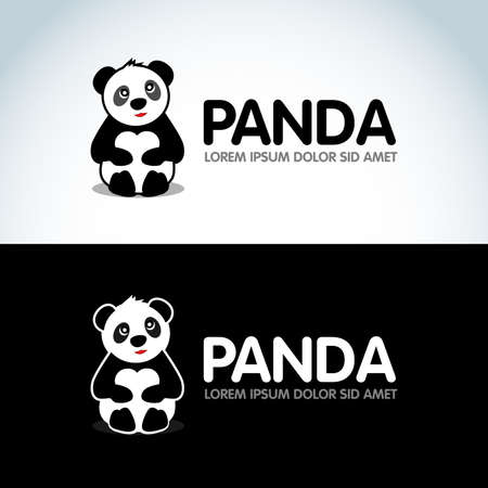 Cute Sitting Panda banner design template