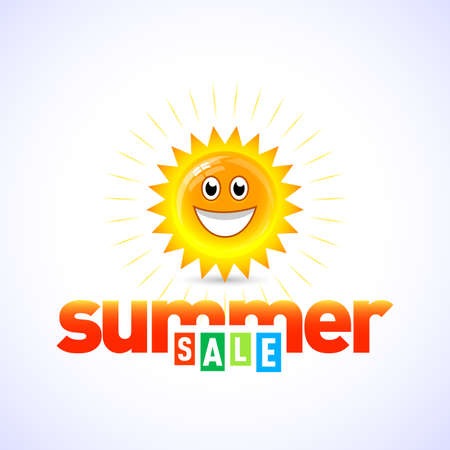 Summer sale banner, logo template, badge, emblem. Isolated summer sale vector illustrations. Summer icon. Illustration