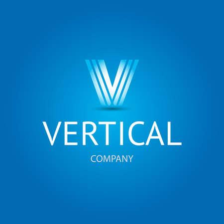 V letter logotype concept. Business corporate letter V logo design template. Simple and clean flat design of the letter V logo vector template. Letter V logo software company and technology Ilustração