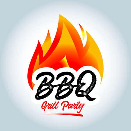 Barbecue fire icon Ilustrace