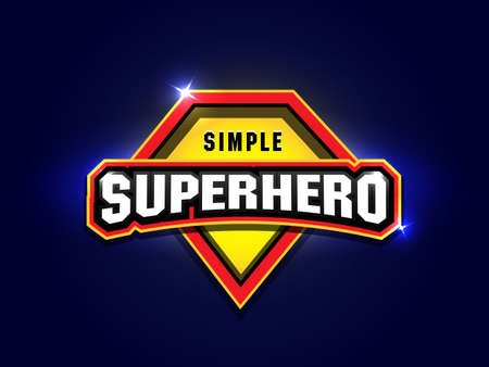 Simple Super hero with powerful typography, vectors for t-shirt graphics. Super hero apparel t-shirt design. Ilustrace
