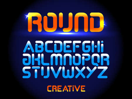 Future font creative modern alphabet fonts. Typography colorful bold rounded font.
