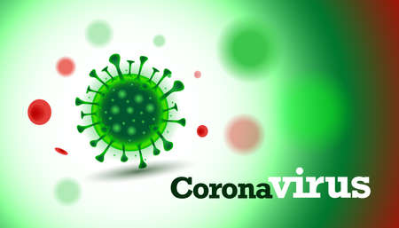 Vector of viruses on white background. bacteria germs microorganism virus cell, human health microbiology science and virus outbreaking concept, isolated vector illustration Ilustrace