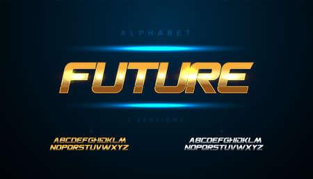 Future abstract modern urban alphabet fonts. Typography sport, simple, technology, fashion, digital, future creative font. vector illustration