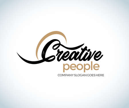 Creative people Letter C Logo. C Letter Design Vector illustration. C Brush Stroke Letter Logo Design. Black Paint Logo Leters Icon