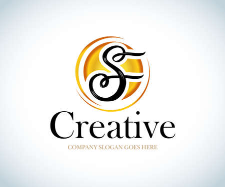 S Brush Stroke Letter Logo Design. Black Paint Logo Leters Icon with Elegant Circle Vector Design.