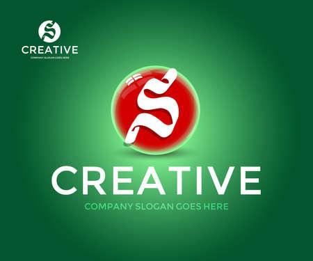 Creative lettering S letter logotype.