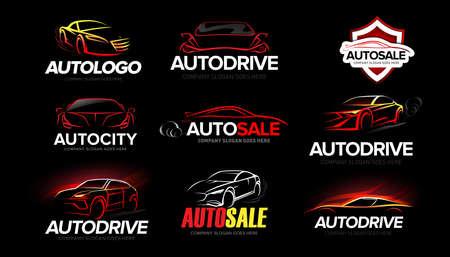 symbol, logo, car, auto, repair, automotive, icon, vector, shop, automobile, dealer, abstract, silhouette, black, concept, garage, modern, motor, tuning, company, performance, supercar, business, elem