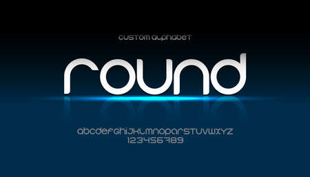 round bold alphabet with rounded and soft corners. Modern font for advertising, web, event, child party, other business. Ilustração