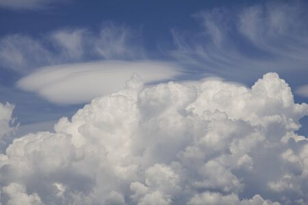cirrus: Above the Cumulus cloud layer of high Cirrus clouds