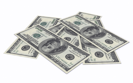 100 US Dollar on desk