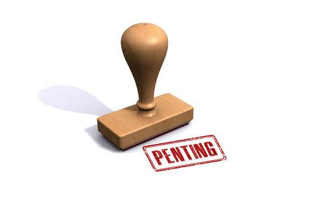 stempel: Penting Stamp Stock Photo