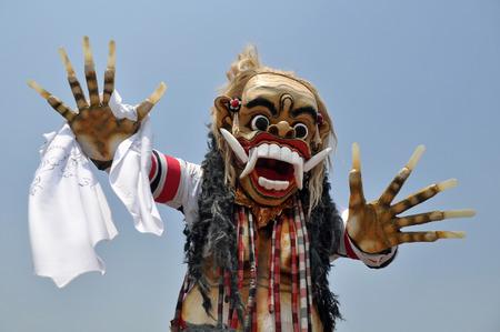 ubud: Ogoh-ogoh the Balinese demon symbol at Balinese New Year Stock Photo