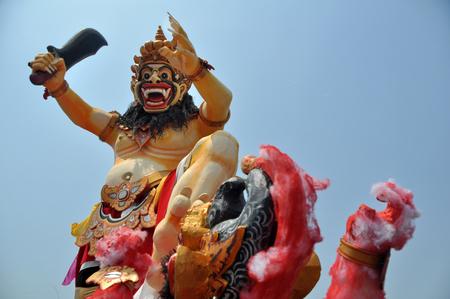 daemon: Ogoh-ogoh the Balinese demon symbol at Balinese New Year Stock Photo
