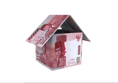 3D indonesian rupiah money property model Stock Photo