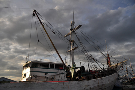 Phinisi ship at Sunda Kelapa Harbour in Jakarta - Indonesia
