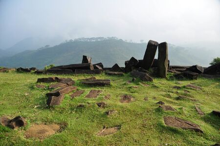 megalith: Gunung Padang, the megalithic site located in Karyamukti village, Cianjur, West Java - Indonesia
