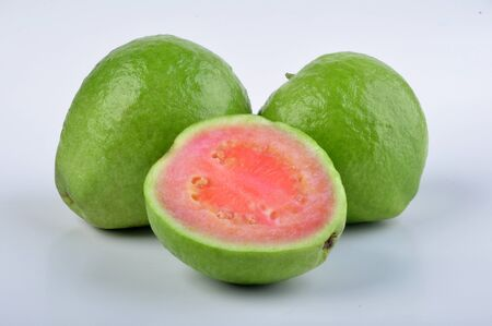 Guava Fruit in White Background Stock Photo