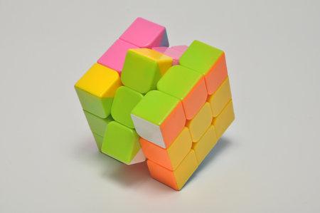 Rubiks Cube Game Stock Photo Image White Background