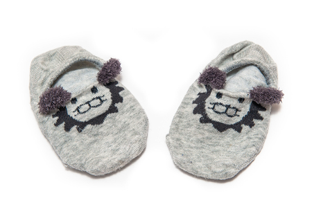 children's slippers on a white background