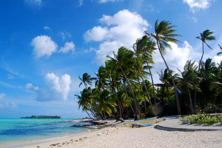 resorts: Bora Bora Island  Honeymoon in Frech Polynesia Stock Photo